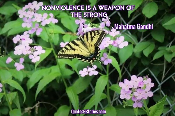 Nonviolence is a weapon of the strong