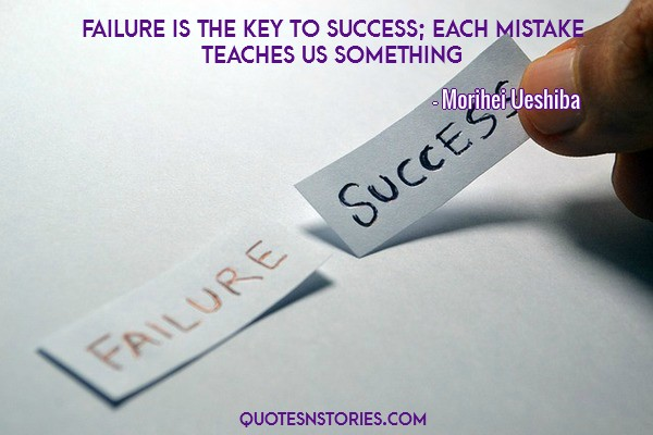failure the key to success It seems that failure tends to be more public than success or at least that's what we perceive it to be we fret it, we try to avoid it, and we question.