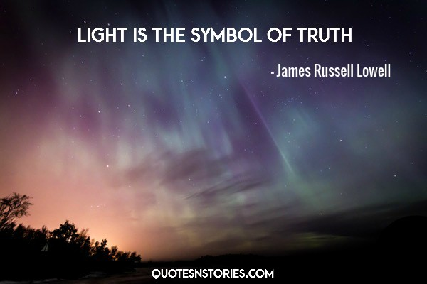 Light is the symbol of truth