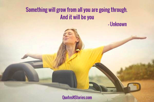 Something will grow from all you are going through. And it will be you